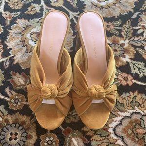 Loeffler Randall Shoes - { Loeffler Randall } Coco Marigold Velvet Mules